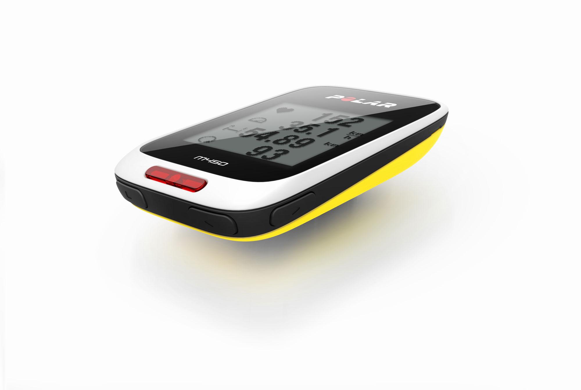 Le GPS vélo et cardio-fréquencemètre Polar M450.