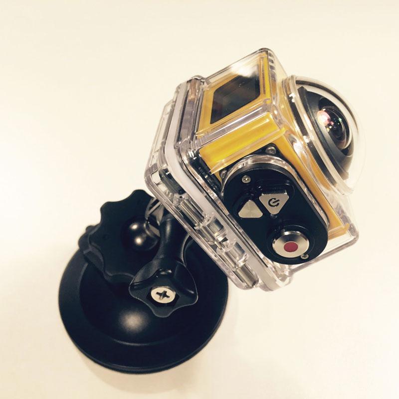 L'action cam Kodak Pixpro SP360 dans son caisson hermétique, 2014, Ph. Moctar KANE.