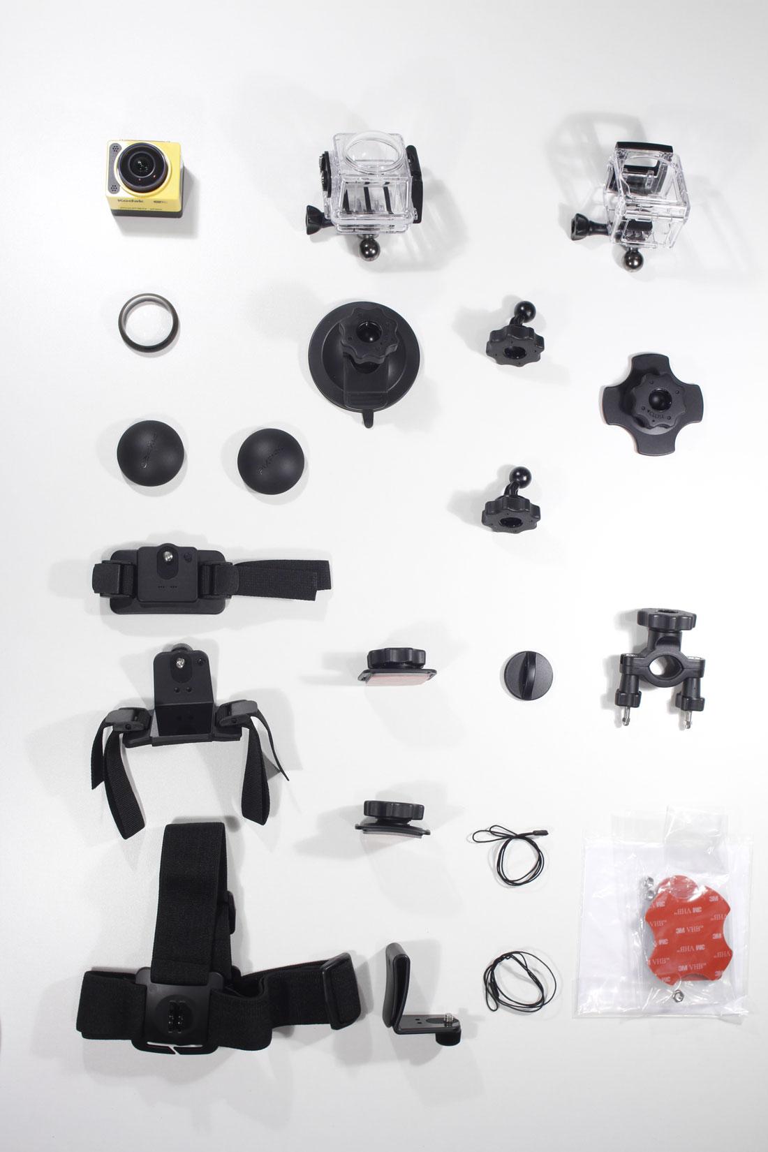 L'action cam Kodak Pixpro SP360 et les accessoires du Pack Extreme, 2014, Ph. Moctar KANE.