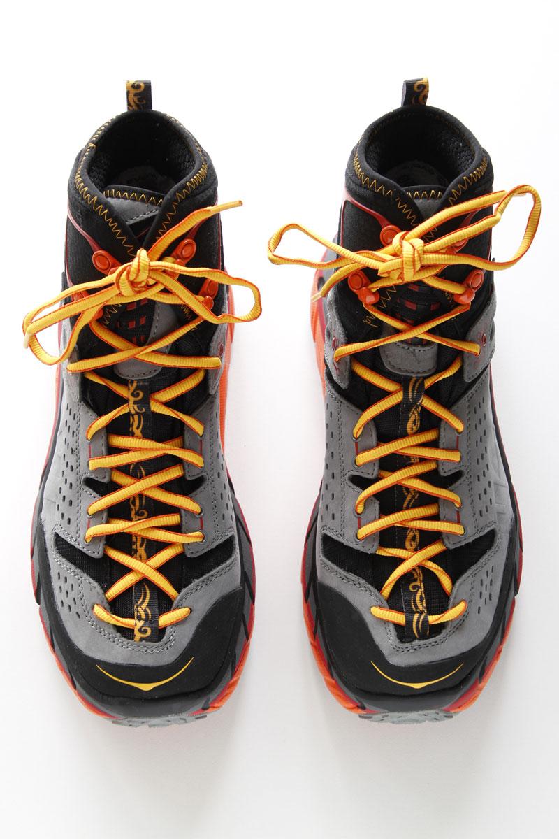 Les chaussures de randonnée Hoka One One Tor Ultra HI WP, 2015, Ph. Moctar KANE.