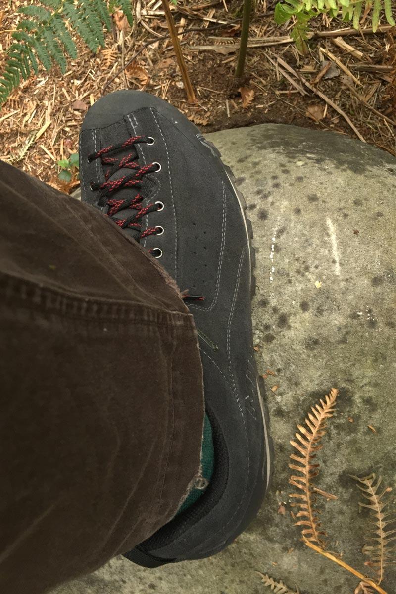 La chaussure de randonnée Millet Friction GTX sur le terrain, 2015, Ph. Moctar KANE.