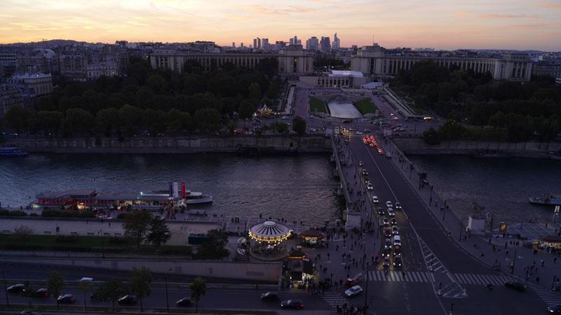 Trocadéro vu de la Tour Eiffel, 2015, Ph. M. KANE. Photo prise avec le smartphone Panasonic Lumix DMC-CM1.