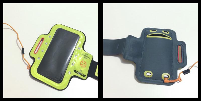 Le brassard Wowow Smartphone Band 3.0 et ses quatre orifices pour prise audio. Ph. Moctar KANE.