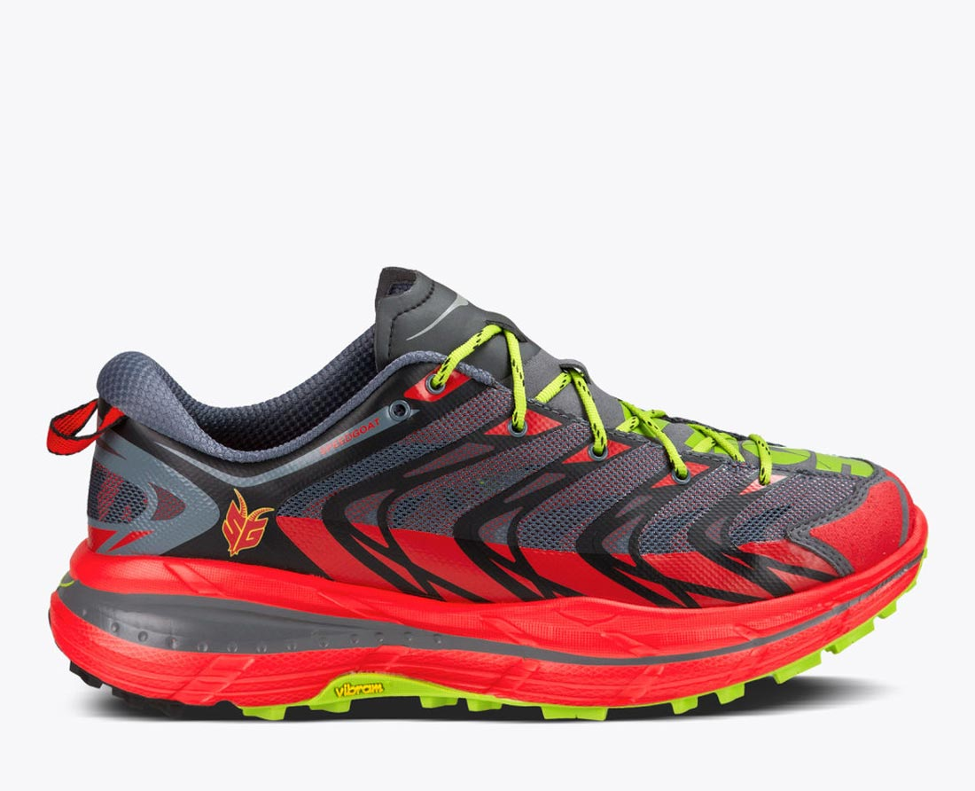 Les chaussures de trail Hoka One One Speedgoat.