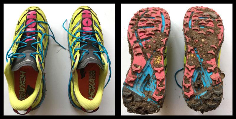 Les chaussures de running trail Hoka One One Speedgoat, 2016, Ph. Moctar KANE.
