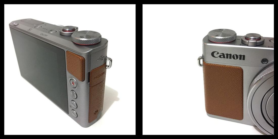 Le Canon G9 X : les parties en plastique. Ph. Moctar KANE.