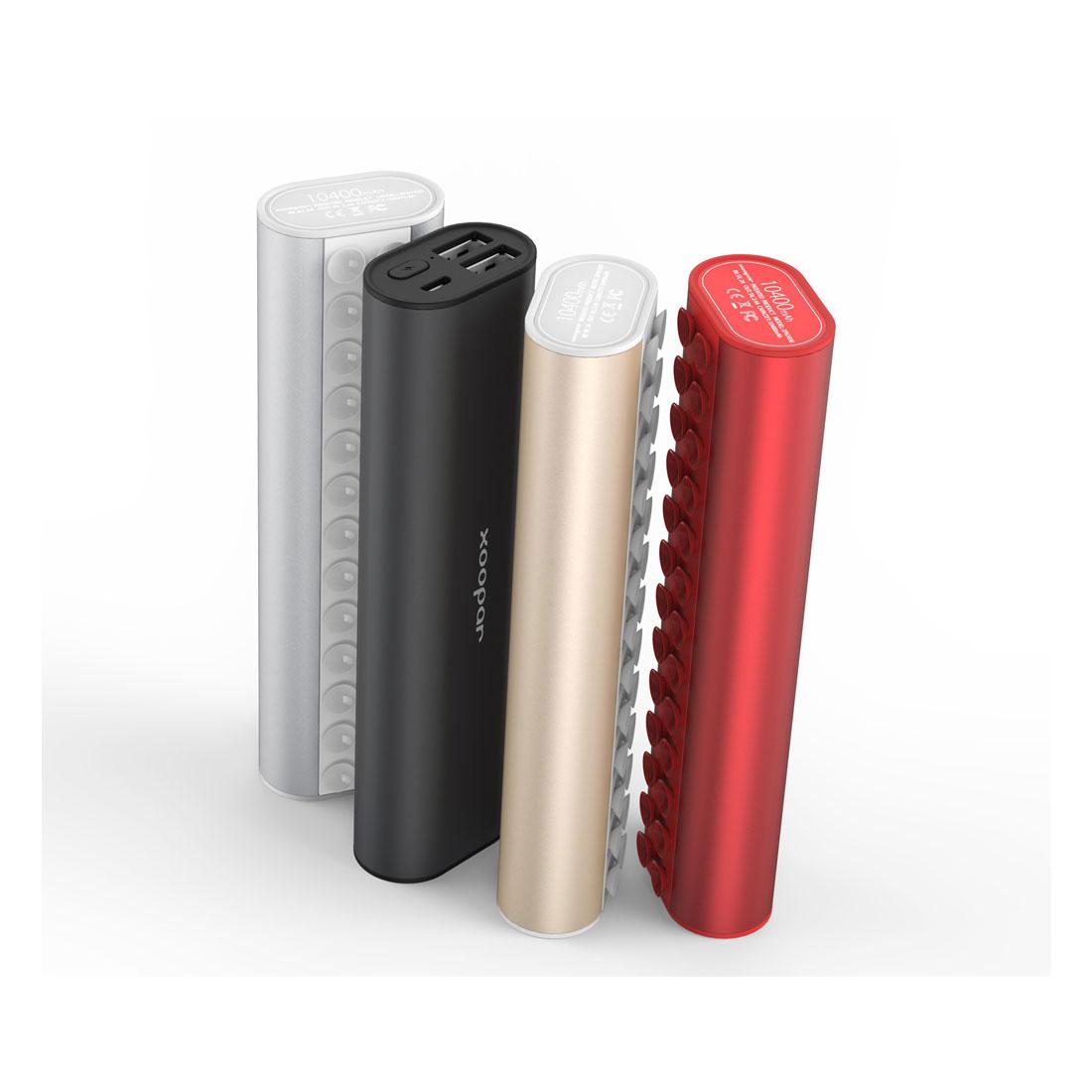 La batterie autonome Xoopar Squid dans ses différentes versions de couleurs.