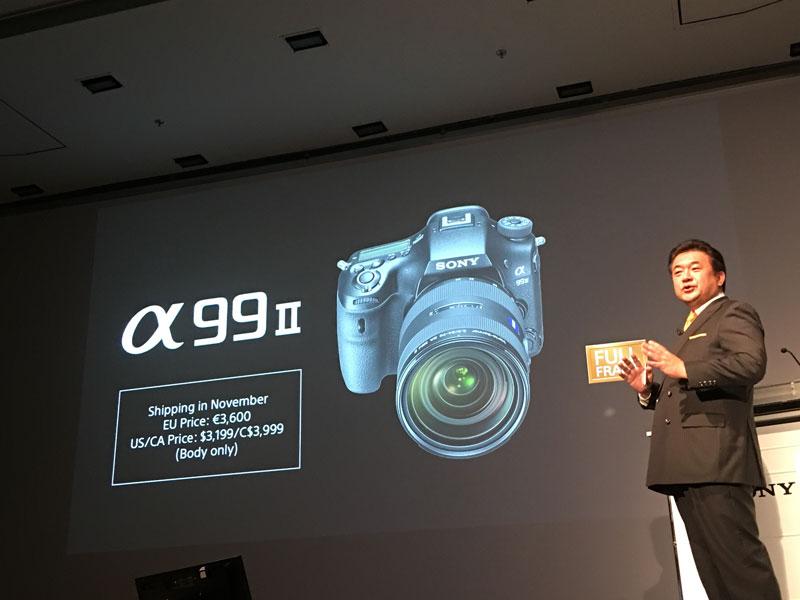 Photokina 2016 : présentation presse du Sony Alpha 99 II, Cologne 19 09 2016, Ph. Moctar KANE.