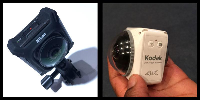 Photokina 2016 : les deux caméras vidéo 360 de Nikon et Kodak, Cologne 09 2016, Ph. Moctar KANE.