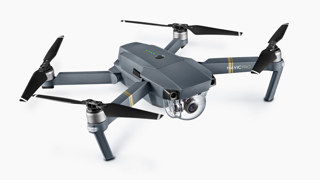 Le drone pliable DJI Mavic Pro.