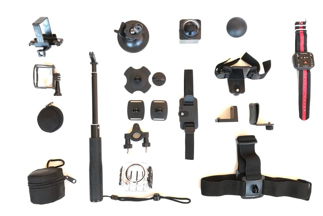 L'action cam 360° Kodak PixPro SP360 4K et plusieurs accessoires, 2017, Ph. Moctar KANE.