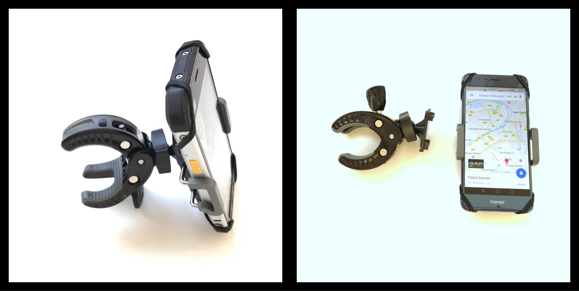 Le support vélo pour smartphone PNY Expand Bike Mount, 03 2017, Ph. Moctar KANE.