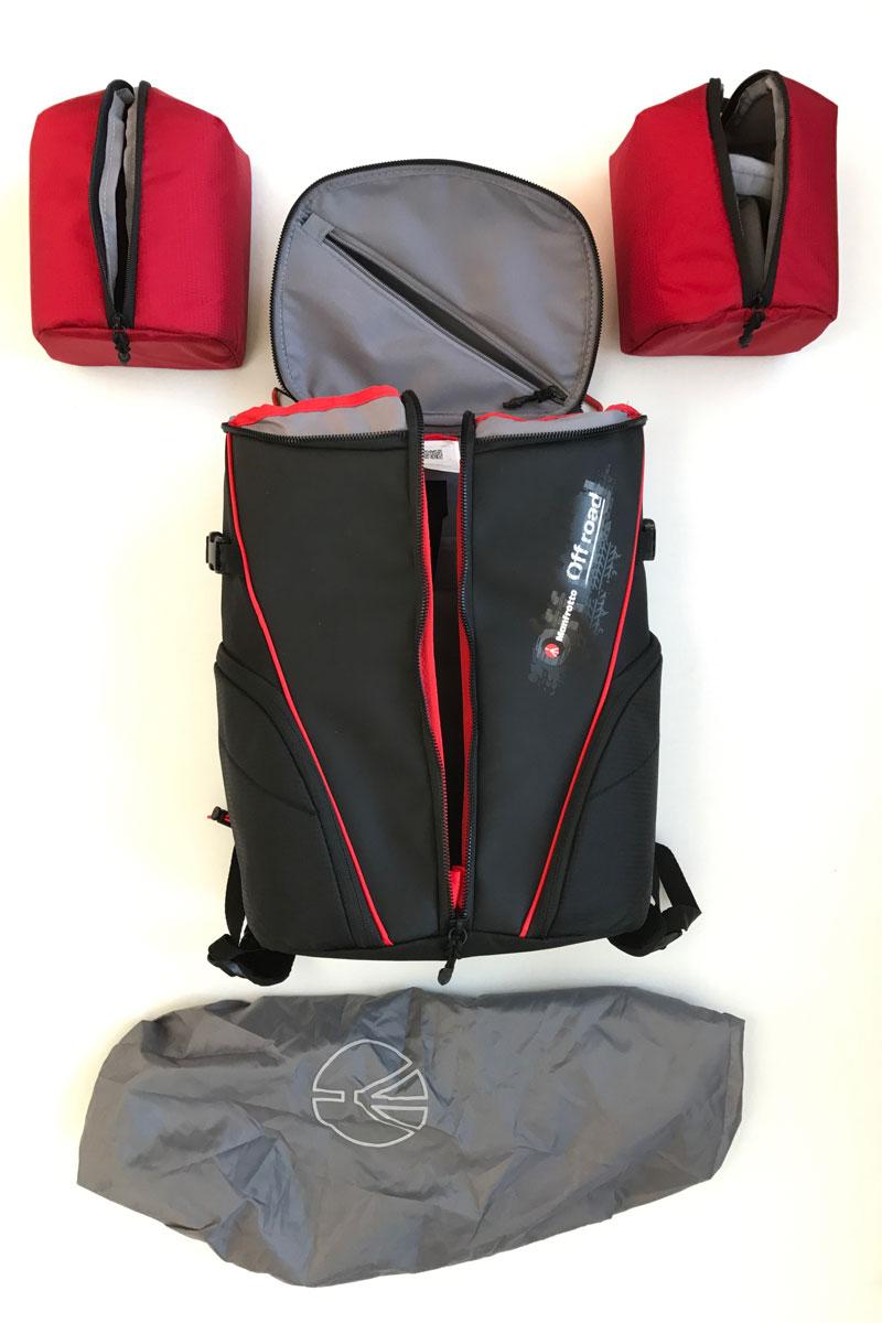 Sac à dos photo/vidéo Manfrotto Offroad Stunt Backpack et ses accessoires de base, 2016, Ph. Moctar KANE.