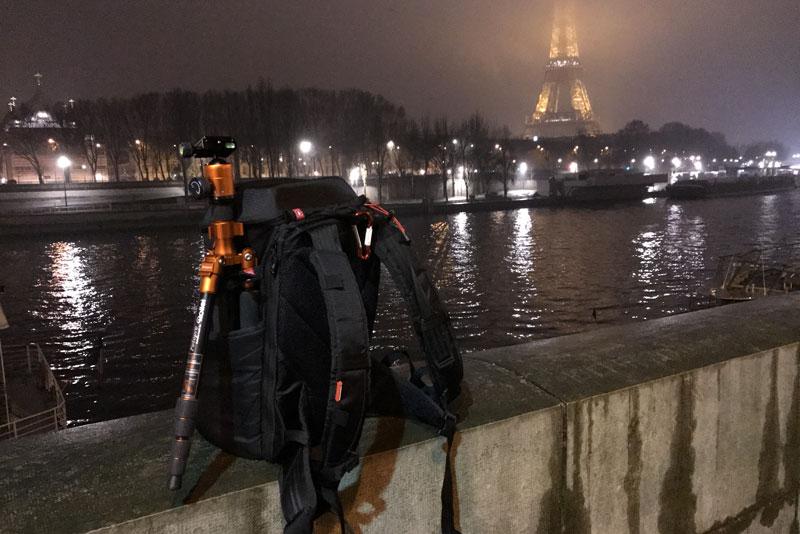 Sac à dos photo/vidéo Manfrotto Offroad Stunt Backpack, sur le terrain, 2017, Ph. Moctar KANE.