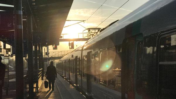 Gare d'Alnay-sous-Bois, photo prise avec l'Apple iPhone 7 Plus, 2017, Ph. Moctar KANE.