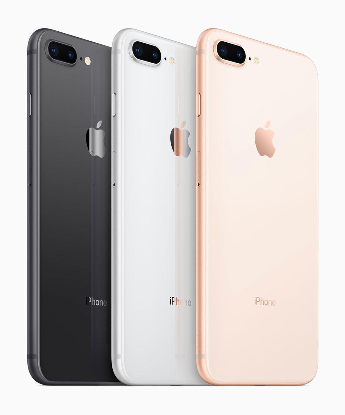 Le smartphone à double capteur optique Apple iPhone 8 Plus.