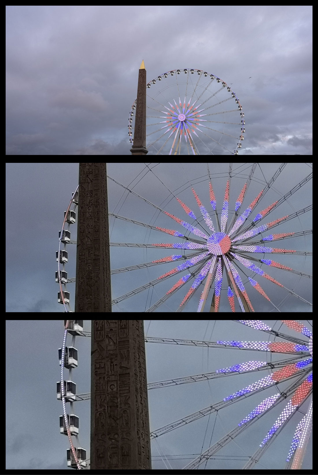 Photos prises avec le Huawei P20 Pro avec les zooms x1, x3 et x5. Ph. Moctar KANE.
