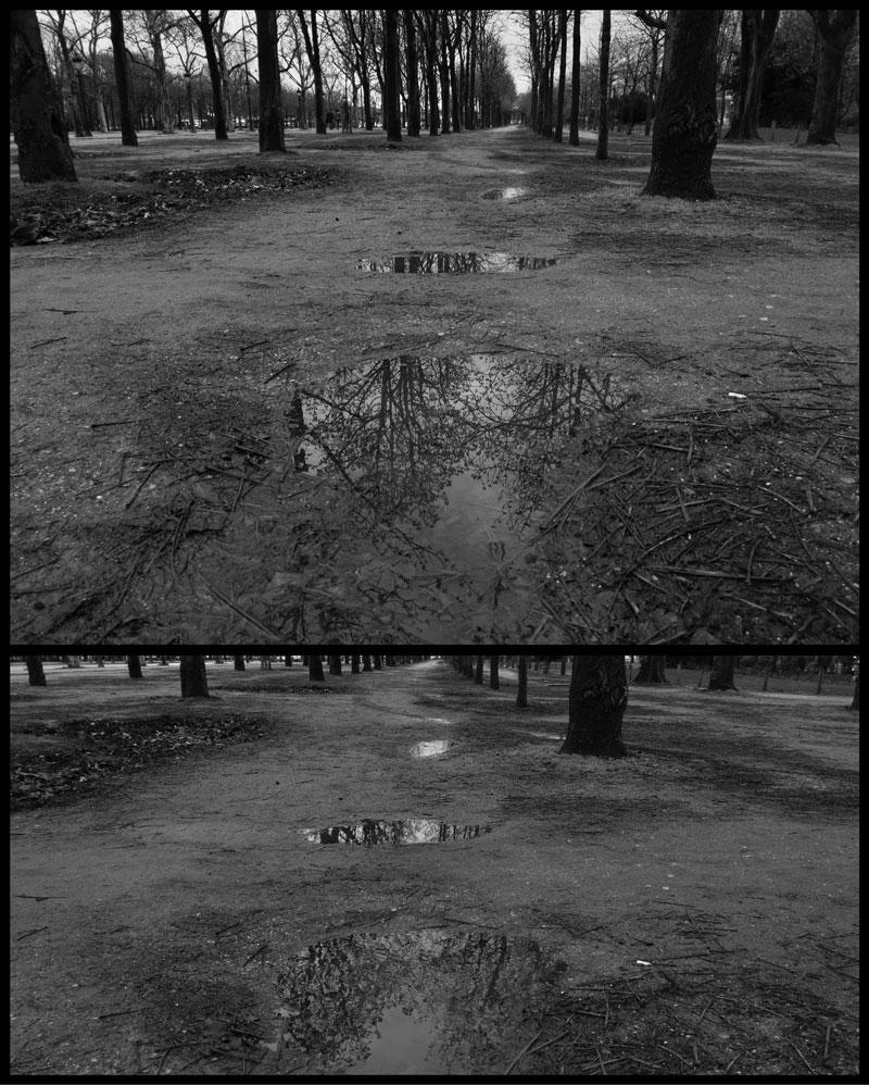 Deux photos noir et blanc prises par le Huawei P20 Pro au format 4/3 et 18/9. Ph. Moctar KANE.