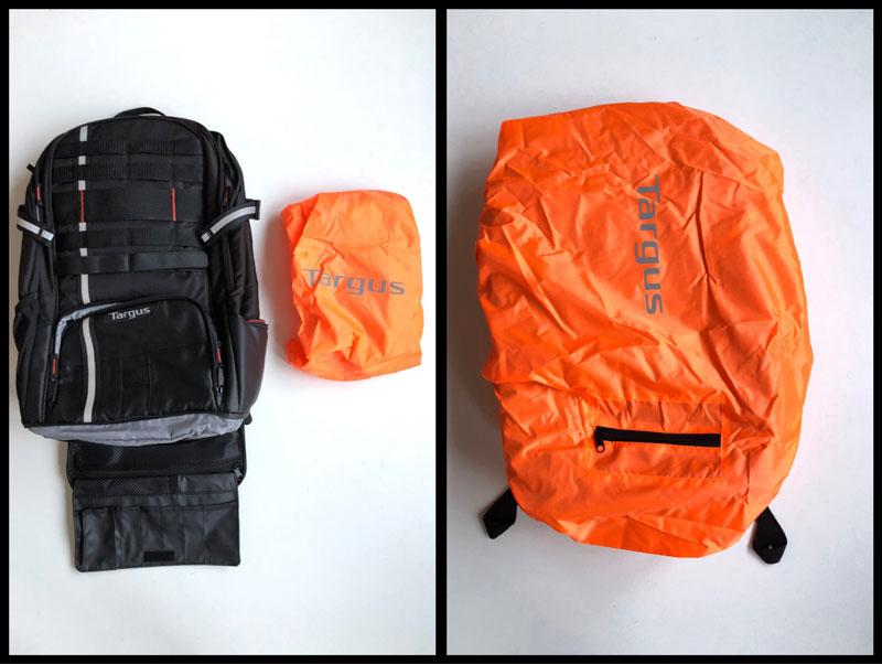Le sac à dos Targus Work & Play cyclisme, avec sa housse de protection, 2018, Ph. Moctar KANE.