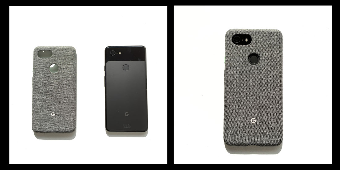 Le smartphone Google Pixel 3 XL et sa coque recouverte de tissu, 2018, Ph. Moctar KANE.
