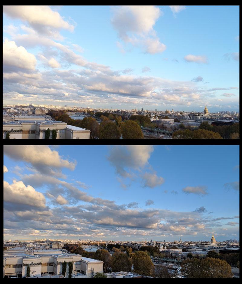 Paris, prise avec Google Pixel 3 XL sans et avec le HDR+, 2019, Ph. Moctar KANE.