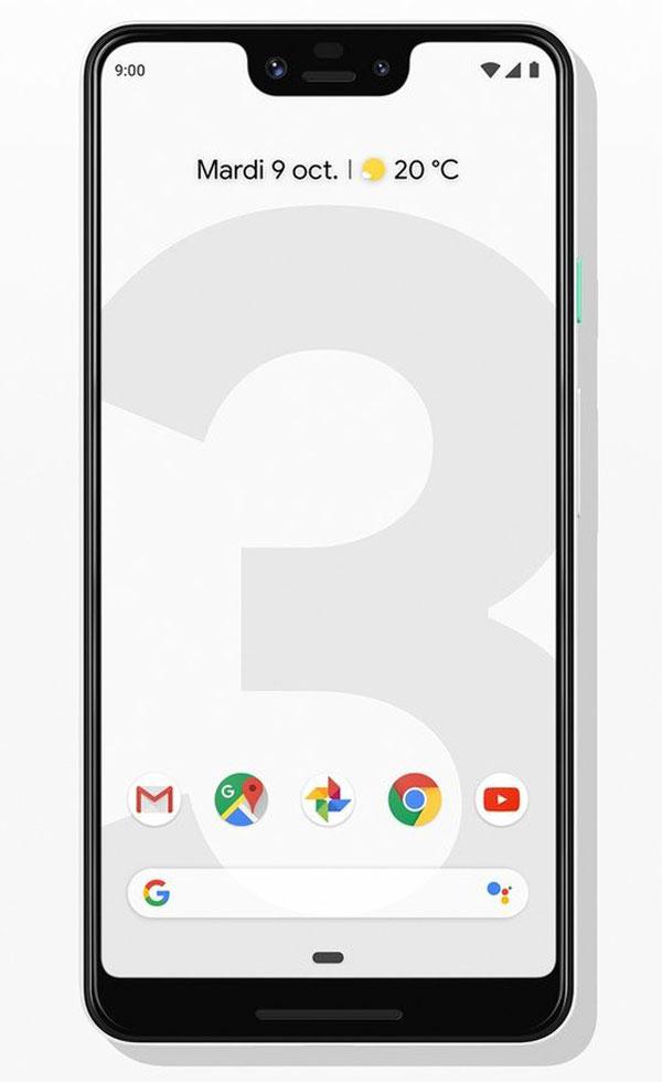 Smartphone Google Pixel 3 XL.