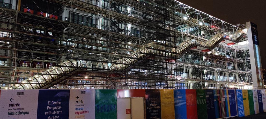 Le Centre Pompidou, photographié avec le OnePlus 7T, Paris, 2019, Ph. Moctar KANE.