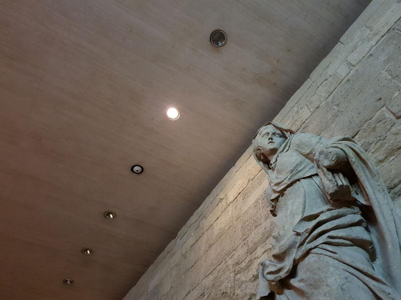 Une statue au Louvre, photographiée au Samsung Galaxy S10+, 2019, Ph. Moctar KANE.