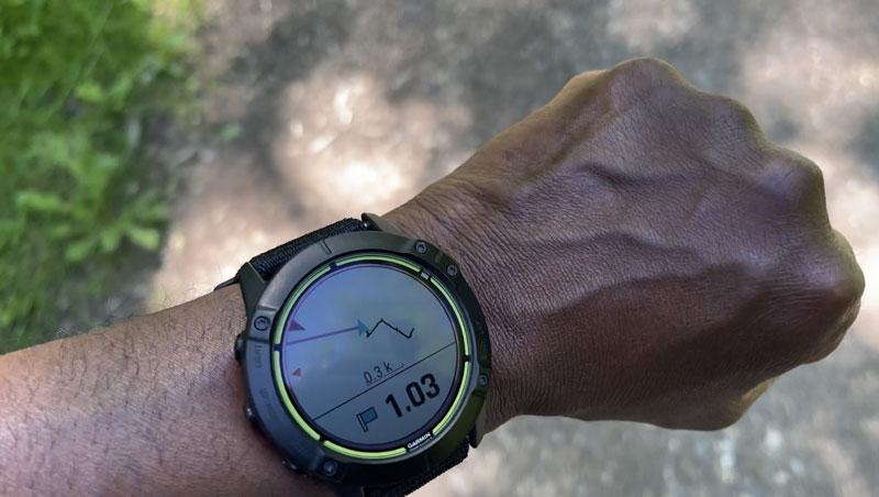 Montre outdoor GPS Garmin Enduroen mode navigation vers un point, 2021, Ph. Moctar KANE.