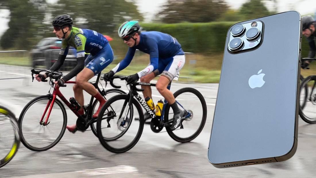 Course Paris-Roubaix 2021 à l'Apple iPhone 13 Pro Max.